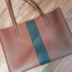 Vegan leather tote